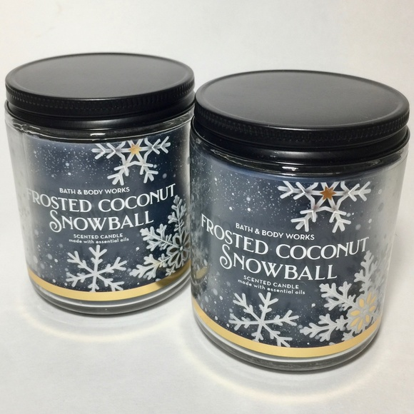 FROSTED COCONUT SNOWBALL Single Wick Candles